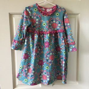 Hanna Andersson Girls (Size 4) Dress 100cm Floral